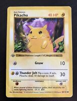 1999 Pokemon 1st Edition Base Set - Yellow Cheeks Pikachu #58 - SHIPS TODAY! 🔥