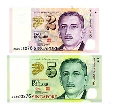 Singapore ... P-46,47 ... 2,5 Dollars ... ND(2005) ... *UNC* ... Pair