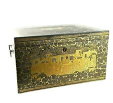 A Large Qing Dynasty Gilt Laquer Tea Caddy