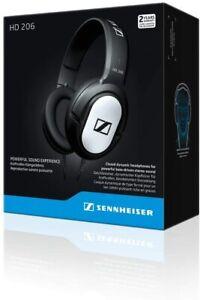 Sennheiser HD 206 Stereo 3m Kabel Kopfhörer in Schwarz Anschluss 3,5mm Klinke