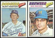 BUY 1, GET 1 FREE - 1977 TOPPS BASEBALL - YOU PICK NUMBERS #401 - #600 - NMMT