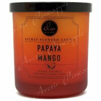 DW Home Essence Medium 9.2oz Single Wick Scented 33hr Candle Jar - Papaya Mango