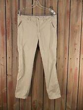 American Eagle Pants Slacks Straight Leg Women's Khaki Size 6 33 x 27