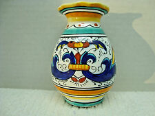 DiPinte A Mano, Deruta Italy small hand painted vase.