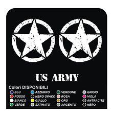 3 ADESIVI STELLA + US ARMY per HARLEY DAVIDSON moto custom