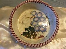 Clementi Italia Bowl Grapes-Leaves-Ribbed Edge
