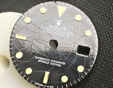 rolex dial explorer 2 SPIDER ultra rare RAIL DIAL 16550 patina top !