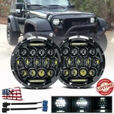 "Pair 7"" INCH LED Headlights Hi/Lo Beam DRL For Jeep Wrangler CJ JK LJ TJ Rubicon"