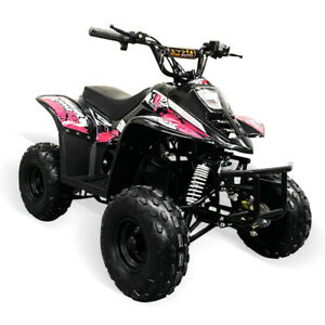 Electric Quad Bike 1500W Equivalent Motor, Big 48V Kids, 3 Speed, 20mph, Pink