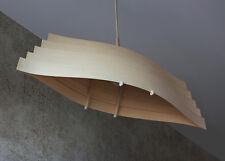 Kalevala Modern Wooden Pendant Light Veneer Lampshade Ceiling Fixture