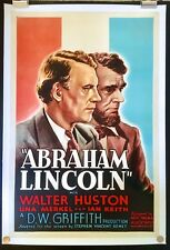 Abraham Lincoln 1930 Original Movie Poster One Sheet Linen Backed D.W.Griffith
