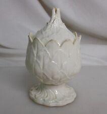 Antique 18th c Wedgwood Artichoke Creamware Covered Pot Jar - 83214