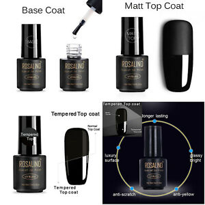 Nail Gel Polish, Base Coat, Matt Gloss High Gloss Top Coats, Gel Nails UK Seller