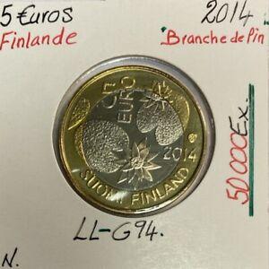 FINLANDE - 5 EURO 2014 - Branche de pin // Pièce NEUVE en qualité : SUP