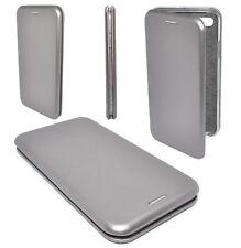Etui Housse Cuir Pu Premium Folio Argenté Silver pour Apple iPhone 7 Plus