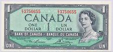 BANK OF CANADA MODIFIED 1 DOLLAR 1954 BC37D E/I3750655 - CH UNC