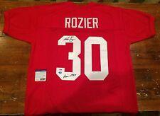 Mike Rozier Autographed Nebraska Cornhuskers Custom Red Jersey ITP PSA & GTSM
