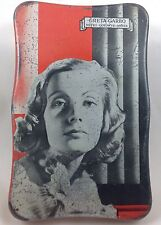 LYONS' TOFFEE TIN  GRETA GARBO  MGM MOVIE STAR  c1930's
