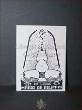 EROTICA - Ex-Libris Originale 1982 Eros Mario De Filippis