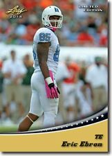 ERIC EBRON 2014 LEAF DRAFT DAY LIMITED EDITION GOLD ROOKIE CARD! DETROIT LIONS!