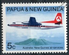 FOKKER F27 / F-27 FRIENDSHIP Airliner Aircraft Stamp (1970 Papua New Guinea)