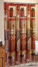 Home Sweet Home Fabric Shower Curtain Country House Primitive Home Rustic Decor