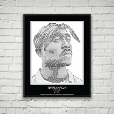 Original Tupac 2pac Shakur Poster in his own words. Image made of Tupac quotes!