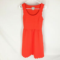 Maeve Anthropologie A-Line Dress Size XS Coral Color Textured Womens