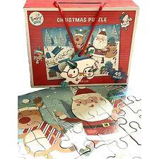 Christmas Jigsaw Puzzle 45 Piece Santa Snowman Kids Girls Xmas Stocking Filler