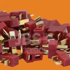 ► 20 Stück (10 Paar) Dean T-Plug Goldstecker Stecker Lipo Akku LRP Graupner FPV