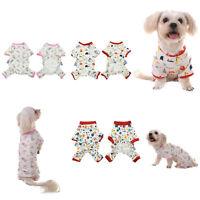 Small Pet Dog Puppy Cat Jumpsuit Pajamas T Shirt Clothes Sleepwear Apparel XS-L