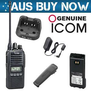 BLACK ICOM IC-41PRO 5W CB UHF TWO WAY RADIO IC 41 PRO PORTABLE HAND HELD GME