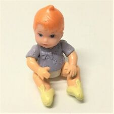Baby Doll Red Hair Fisher Price Loving Family Dollhouse Xmas Gift BABY BOY Toy