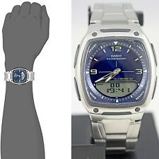 Casio AW81D-2AV Blue Databank Watch Steel Band 10 Year Battery World Time