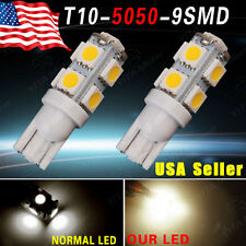 2 x Warm White T10 9 SMD 5050 Car Auto LED Light bulbs W5W 2825 158 192 168 194