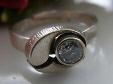 Designer Ring 925° Silber von Karl Laine echter Bergkristall Finnland 1988 R259