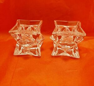 Michael C. Fina Fifth Avenue 24% Lead Crystal Candle Stick Taper Holders *New*