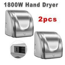 2PC Stainless Steel Automatic Commercial Electric Hand Dryer Hot Air Hand Blower