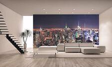 Manhattan Skyline at Night  Wall Mural Photo Wallpaper GIANT WALL DECOR