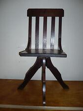 Rare antique oak wood child's swivel office chair