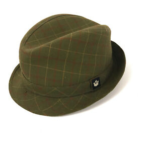 Goorin green fedora style hat cap size 7 clean condition hbv2