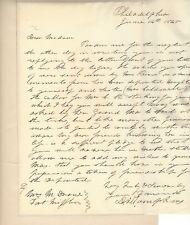 Col. Daniel Tompkins Autograph Letter Signed; Brevetted at Battle of Felasco