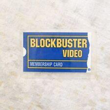 VTG Original Blockbuster Video Laminated Membership Card Gardena CA 90s 1990s
