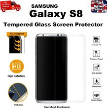 100% GENUINE Full 3D Curved Tempered Glass Screen Protector for Samsung S8 CLEAR