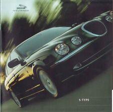 2001 JAGUAR S-TYPE Large Format 42 Page Prestige Brochure 3.0 V6 SE 4.0 V8 SPORT