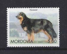 Rare Dog Breed Photo Body Portrait Postage Stamp Hovawart Mordovia 2001 Mnh