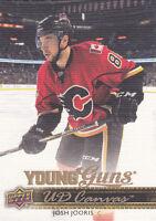 14-15 Upper Deck Josh Jooris UD Canvas Young Guns Rookie Flames 2014