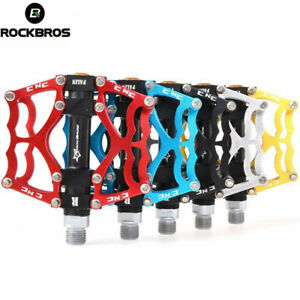 """ROCKBROS Mountain Bike Pedals Aluminum Alloy MTB Sealed Bearing Pedals 9/16"""""""
