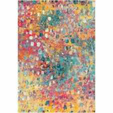 JONATHAN Y Contemporary POP 8 x 10 Multi/Yellow Square Indoor Abstract Area Rug