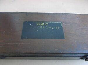 1930s/40s GEC Reed Vibrometer in Original Box